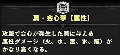 真・会心撃【属性】スキル説明